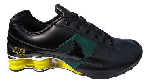 nike shox classic verde e preto