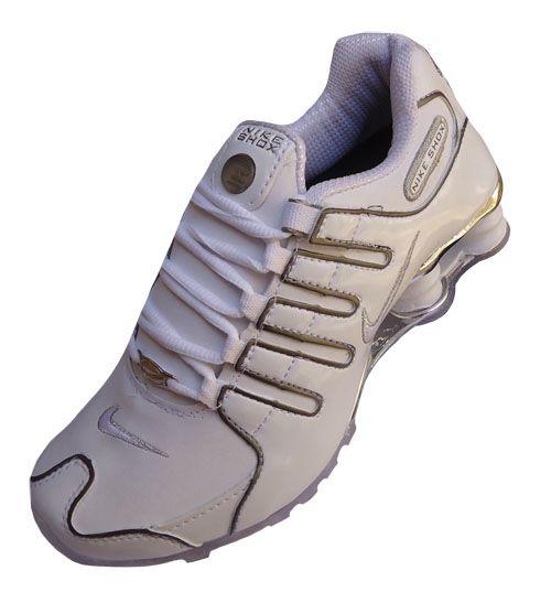 Nike Shox NZ cromado Branco MOD 022 cd16c3d38cec7