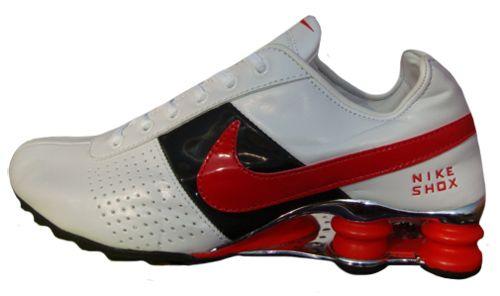 new product d48de 8438b Nike Shox Deliver Branco Preto e vermelho MOD 022