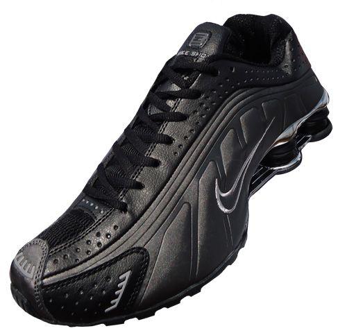 f6505ab4ff Nike Shox R4 Cromado Grafite e Preto MOD:026